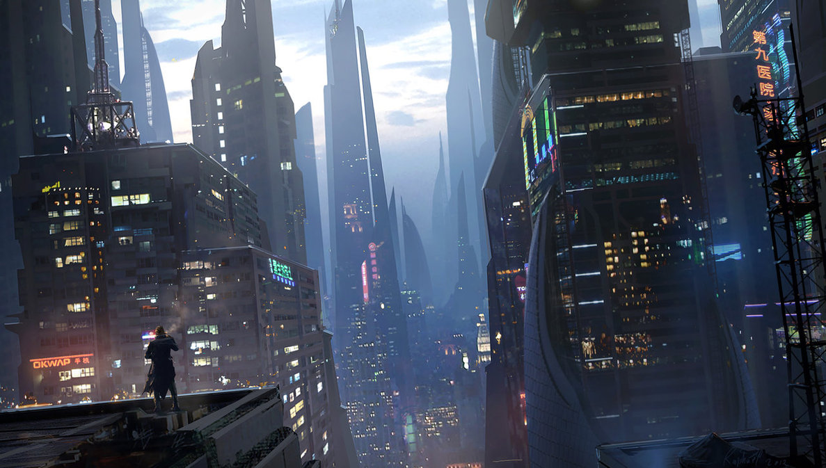 23-cyberpunk-arte-relaxing_on_rooftop_by_raphael_lacoste